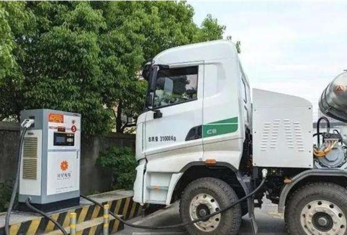 Sany pure electric concrete mixer truck arrived in Nanjing